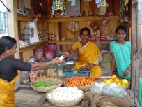 Picture of a vegetable stall in India