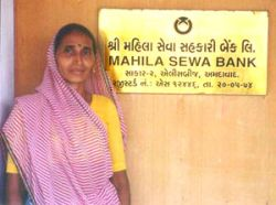 Picture of a female client of SEWA Bank
