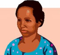 Picture of a female microfinance client