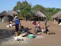 Picture of a village in Africa